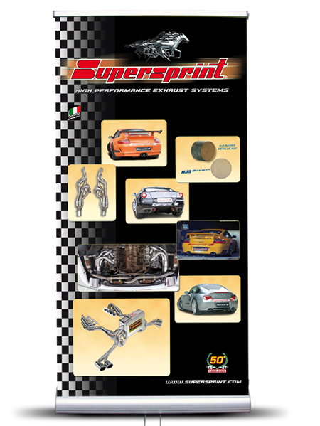 Welkom Bij Rs Trade Supersprint Roll Up Banner